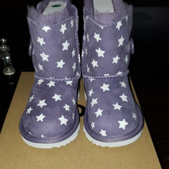 56b702cb5ff New UGG boots Bailey Button Starlight Purple NWT
